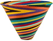 African Basket - Zulu Wire - Deep Funnel Bowl, Extra Large #39560