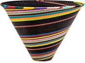 African Basket - Zulu Wire - Deep Funnel Bowl, Extra Large #39562