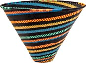 African Basket - Zulu Wire - Deep Funnel Bowl, Extra Large #39563