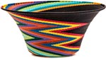 African Basket - Zulu Wire - Large Flared Bowl #39568