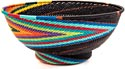 African Basket - Zulu Wire - Bowl with Base #39736
