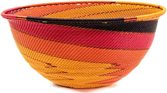 African Basket - Zulu Wire - Extra Large Bowl #39751