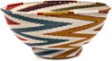 African Basket - Zulu Wire - Bowl with Base #45878