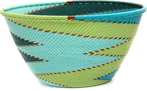 African Basket - Zulu Wire - Deep Bowl #45925