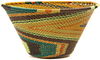 African Basket - Zulu Wire - Small Funnel Bowl #47231