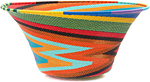 African Basket - Zulu Wire - Large Flared Bowl #47235