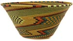 African Basket - Zulu Wire - Extra Large Funnel Bowl #48881