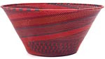 African Basket - Zulu Wire - Extra Large Funnel Bowl #49203