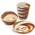 African Telephone Wire Baskets - Desk Set - 3 Pieces - #49382