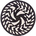 African Basket - Zulu Wire - Coil Weave Platter - 13.25 Inches Across - #49476
