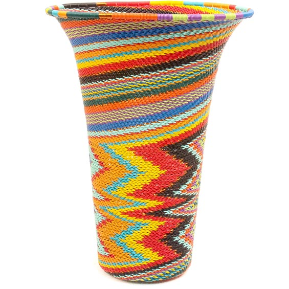 African Basket - Zulu Wire - Flared Top Vase #50524