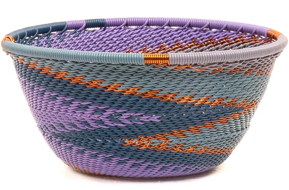 African Basket - Zulu Wire - Small Bowl #50543