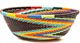 African Basket - Zulu Wire - Small Wide Bowl #50557