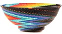 African Basket - Zulu Wire - Bowl with Base #50952