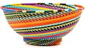 African Basket - Zulu Wire - Bowl with Base #50972
