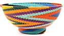 African Basket - Zulu Wire - Bowl with Base #50974