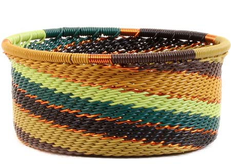 African Basket - Zulu Wire - Small Bowl with Straight Sides #52139