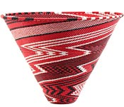African Basket - Zulu Wire - Extra Large Deep Funnel Bowl #52174