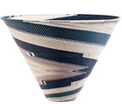African Basket - Zulu Wire - Extra Large Deep Funnel Bowl #52190