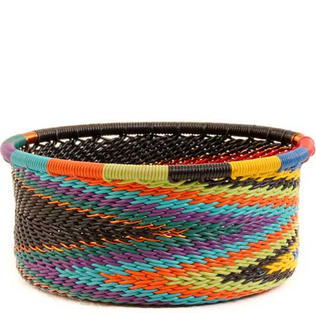 African Basket - Zulu Wire - Small Bowl with Straight Sides #53224