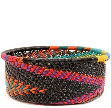 African Basket - Zulu Wire - Small Bowl with Straight Sides #53226