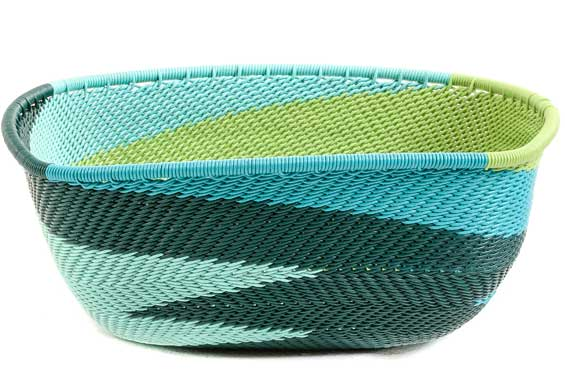 African Basket - Zulu Wire - Square Bowl #53283