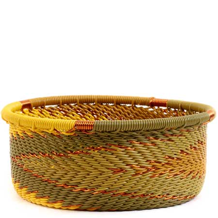 African Basket - Zulu Wire - Small Bowl with Straight Sides #55519