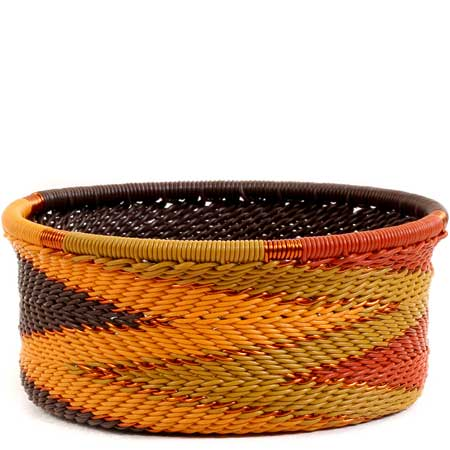 African Basket - Zulu Wire - Small Bowl with Straight Sides #55520