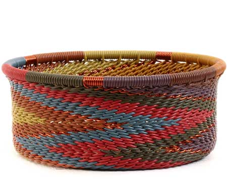 African Basket - Zulu Wire - Small Bowl with Straight Sides #56680