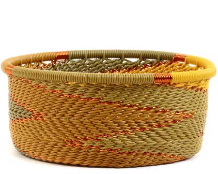 African Basket - Zulu Wire - Small Bowl with Straight Sides #56685