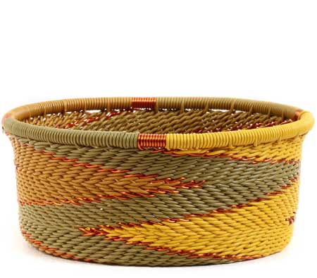 African Basket - Zulu Wire - Small Bowl with Straight Sides #56686