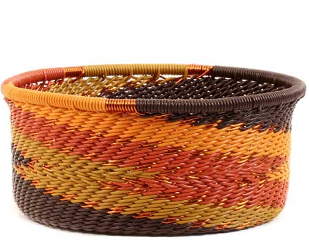 African Basket - Zulu Wire - Small Bowl with Straight Sides #56693