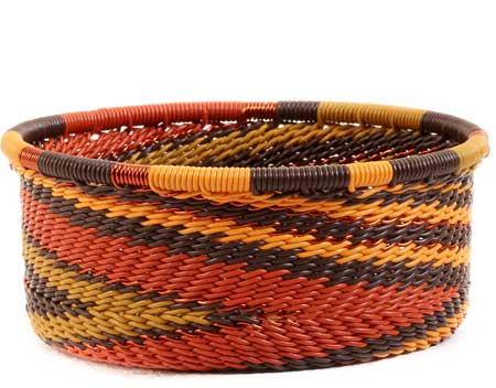 African Basket - Zulu Wire - Small Bowl with Straight Sides #56694