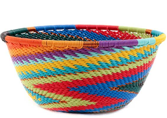 African Basket - Zulu Wire - Small Bowl #58044