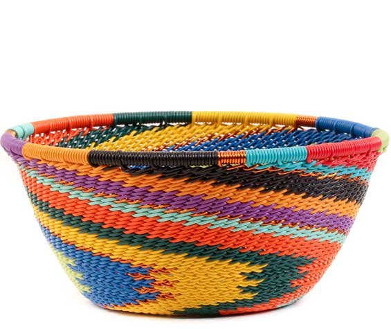 African Basket - Zulu Wire - Small Bowl #58644