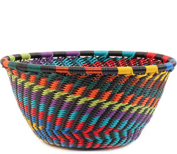 African Basket - Zulu Wire - Small Bowl #58654