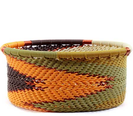 African Basket - Zulu Wire - Small Bowl with Straight Sides #59461