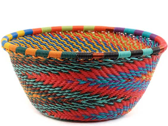African Basket - Zulu Wire - Small Bowl #59466