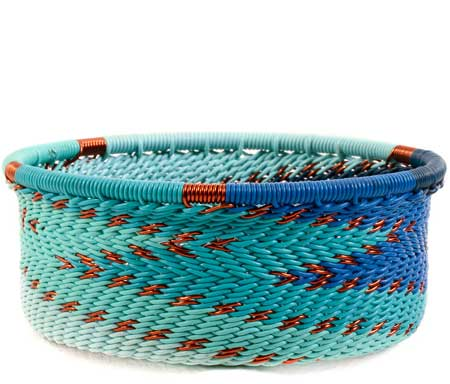 African Basket - Zulu Wire - Small Bowl with Straight Sides #59980