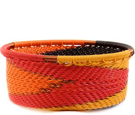 African Basket - Zulu Wire - Small Bowl with Straight Sides #59982