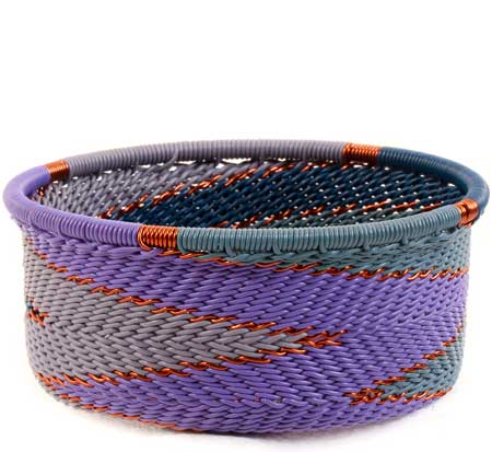 African Basket - Zulu Wire - Small Bowl with Straight Sides #59993