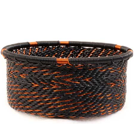 African Basket - Zulu Wire - Small Bowl with Straight Sides #60002