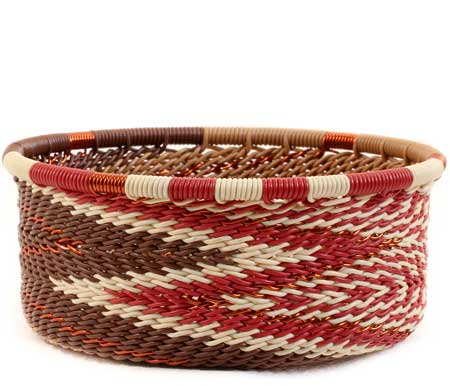 African Basket - Zulu Wire - Small Bowl with Straight Sides #60003