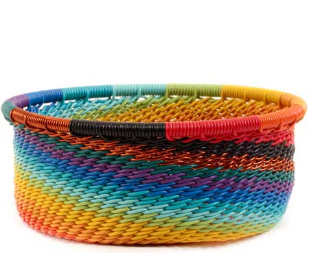 African Basket - Zulu Wire - Small Bowl with Straight Sides #60006