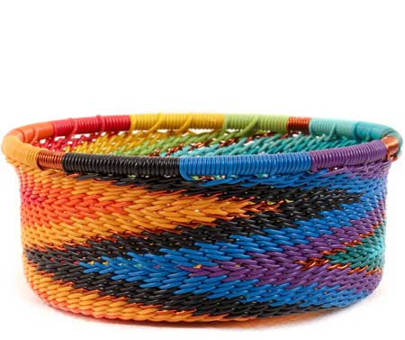African Basket - Zulu Wire - Small Bowl with Straight Sides #60008