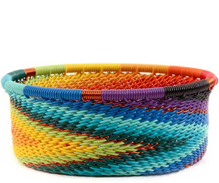 African Basket - Zulu Wire - Small Bowl with Straight Sides #60009