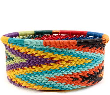 African Basket - Zulu Wire - Small Bowl with Straight Sides #60011