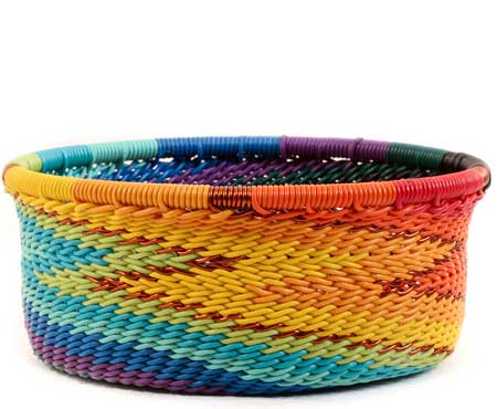 African Basket - Zulu Wire - Small Bowl with Straight Sides #60012