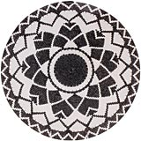 African Basket - Zulu Wire - Coil Weave Platter - 13.75 Inches Across - #60438