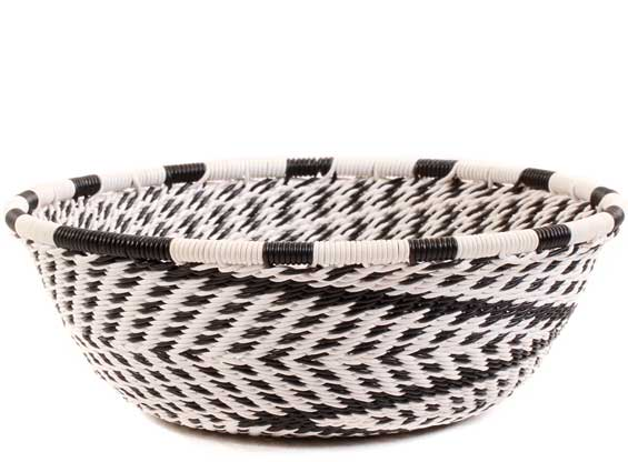 African Basket - Zulu Wire - Small Wide Bowl #60516